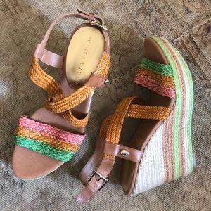 Ivanka Trump Green Tally wedge sandal Nordstrom 10